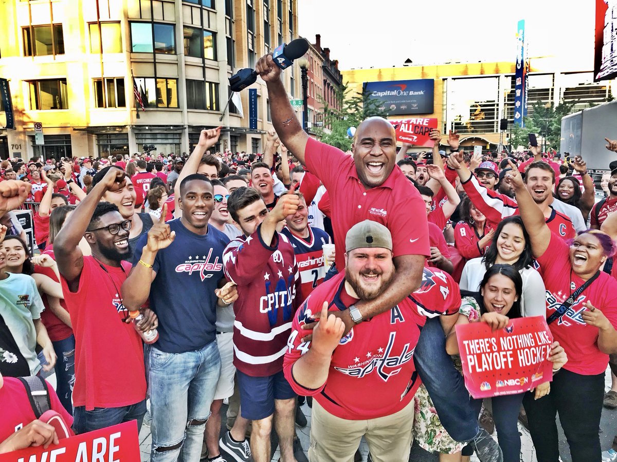 3123b6ebe97 NBC 4 Washington reporter Shomari Stone reported live from Washington  Capitals viewing events during the Stanley Cup run and tweeted photos and  videos of ...