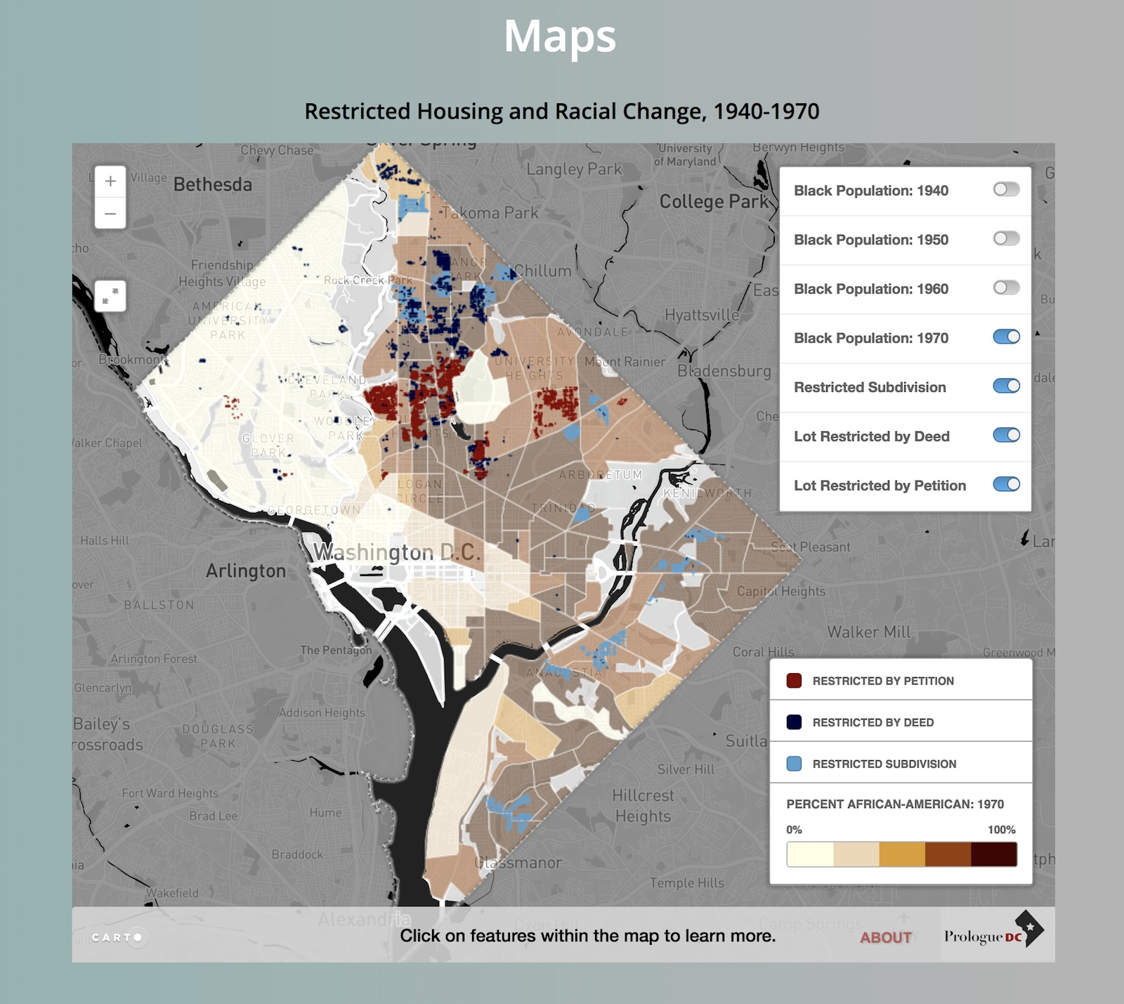 Se Dc Map.New Website Maps Out History Of Housing Segregation In Dc
