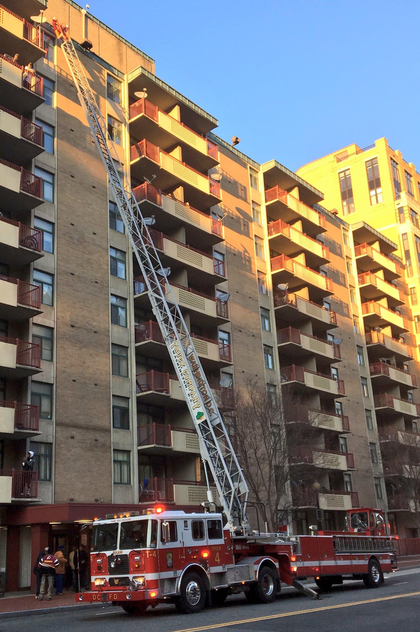 Fire department's lack of reserve fleet of ladder trucks